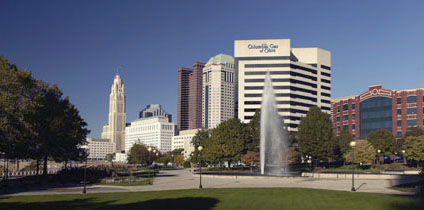 Bicentennial Park on the Riverfront in Downtown Columbus, Ohio