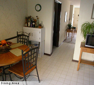 Dining area of apartments for lease, rent in Columbus, Ohio